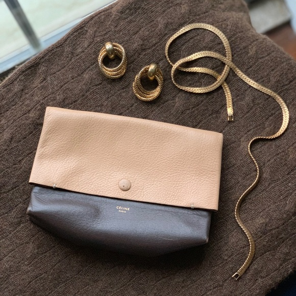 Celine Handbags - Celine Tie Knot Companion leather pouch